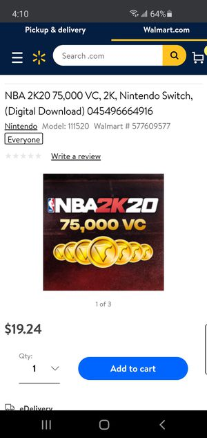 NBA 2K20 VC NINTENDO SWITCH for Sale in Pittsburgh, PA
