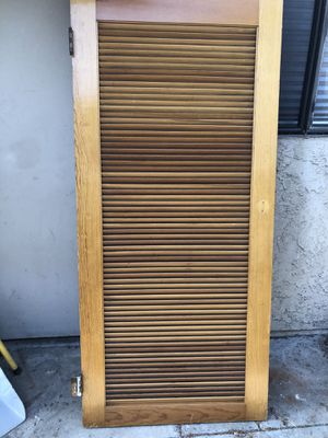 Vintage wood louver door for Sale in Upland, CA