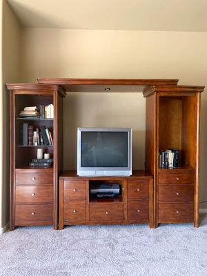 New Classic entertainment center TV stand and bookshelves for Sale in Phoenix, AZ