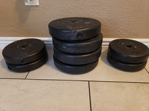 "1"" center weights... want to sell today!! for Sale in Queen Creek, AZ"