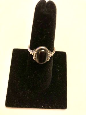 925 silver and black coral ring size 7 for Sale in Pinecrest, FL