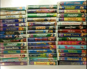 Disney VHS Collection (46 movies) for Sale in Evansville, IN