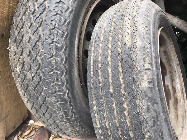 Trailer spare rim and tires