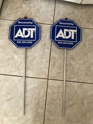 Two ADT signs for Sale in BVL, FL