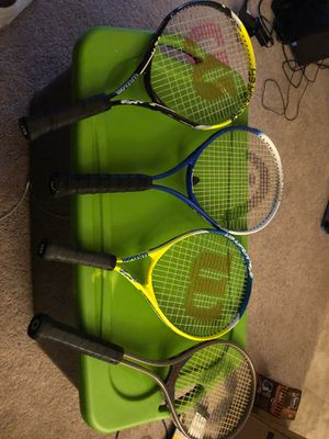 Brand new tennis rackets all of them for $200 (see page for individual price) for Sale in Baltimore, MD