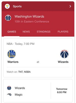 Wizards Vs Warriors Lower Level Game Tickets. Sec 109 for Sale in Washington, DC
