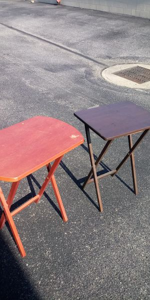 2 wooden TV dinner collapsible stands. Both for 10 for Sale in Newport News, VA