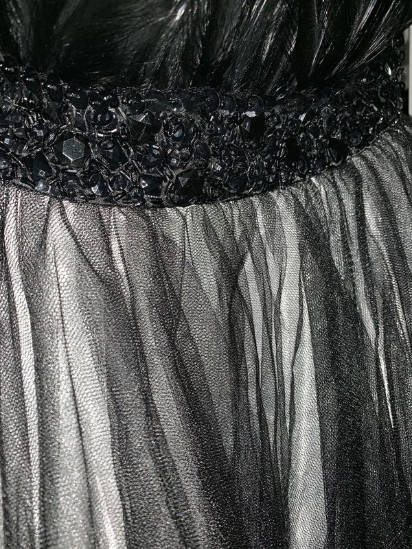 Alyce Designs Feather Gown