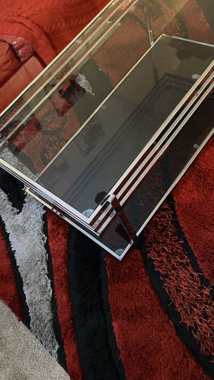 Glass and chrome table set(coffee table and 2 end tables) for Sale in Palm Harbor, FL