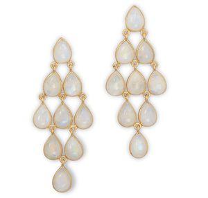 Moonstone Chandelier Earrings - 14k Gold Plated for Sale in Duluth, GA