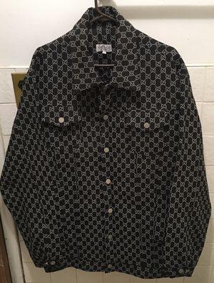 Gucci black denim jacket, 2Xl for Sale in Brooklyn, NY