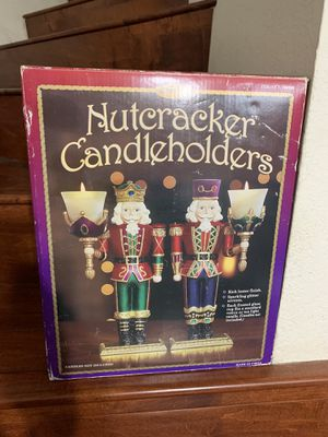 SET OF 2 CHRISTMAS NUTCRACKER VOTIVE CANDLE HOLDERS for Sale in Walnut, CA