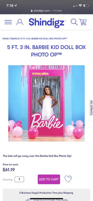 Barbie doll box Photo op for Sale in Rye Brook, NY