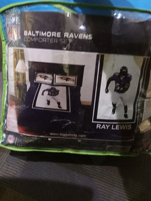 Baltimore Ravens comforter twin bed set for Sale in Murfreesboro, TN