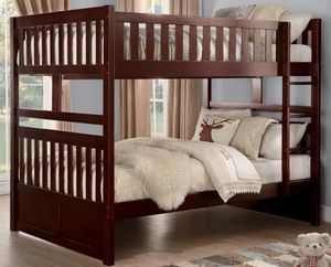 Solid wood bunk bed frame for Sale in Elgin, IL