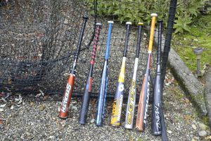 7 baseball bats all in used/barely used condition. Easton Combat DeMarini prices range from $20-$150 per bat for Sale in Stanwood, WA