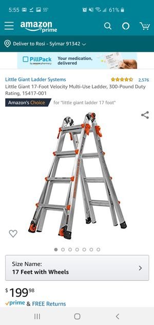 17 foot little giant ladder for Sale in Lake View Terrace, CA