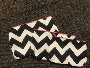 Three cosmetic bags for Sale in Knoxville, TN