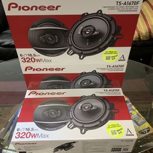 Pioneer Car Audio . 6.5 Inch Car Stereo Speakers . High Quality . 320 watts . New Years Super Sale $55 A Pair While They Last . New for Sale in Mesa, AZ