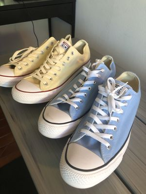 Cream and light blue Converse $45 each size 12 or $80 total for Sale in San Jose, CA