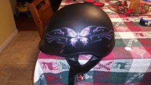 VCAN Cruiser Intricate Butterfly Flat Black Large Half Helmet /large for Sale in Abingdon, VA