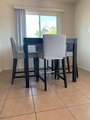 Bar Height Espresso Black Table Set with Chairs for Sale in San Diego, CA