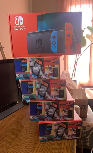 Brand new unopened Red and Blue V2 Nintendo Switch Console!!! for Sale in Upland, CA