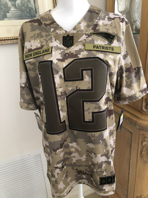 Authentic Nike New England Patriots Tom Brady # 12 Camouflage Team Jersey Brand New $170