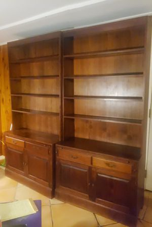 Solid wood Bookcases for Sale in Boca Raton, FL