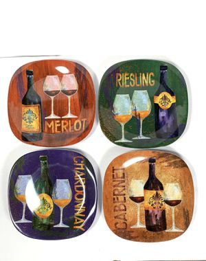 Merritt Appetizer 8 Inch Square Wine Plates for Sale in San Diego, CA