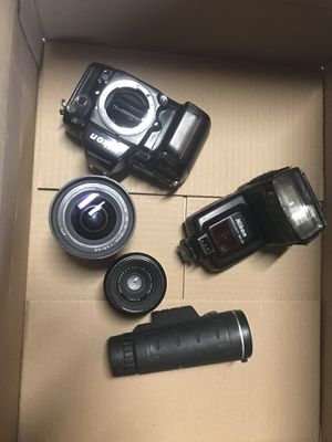 Nikon n90 vintage camera with two lens and more for Sale in San Leandro, CA