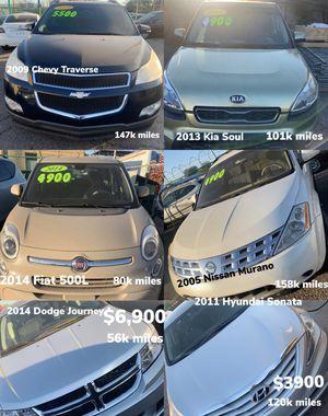 2009 Chevy Tahoe , 2014 Kia soul, 2014 Fiat 500L, 2005 Nissan Murano, 2014 Dodge Journey, 2011 Hyundai sonata for Sale in Laveen Village, AZ
