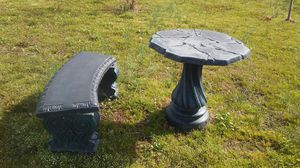 Concrete Table and Bench for Sale in Cleveland, MS