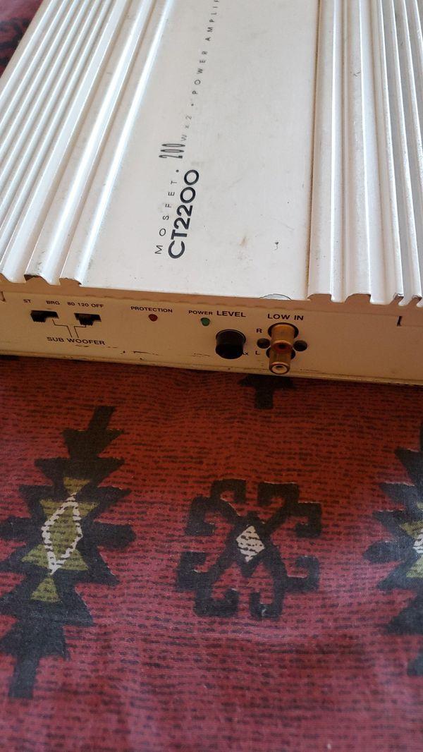 Cross fire mosfet CT 2200 car amp