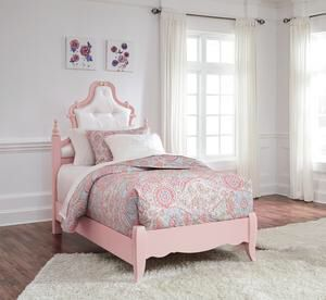 Laddi White/Pink Twin Bed | B212 for Sale in Austin, TX