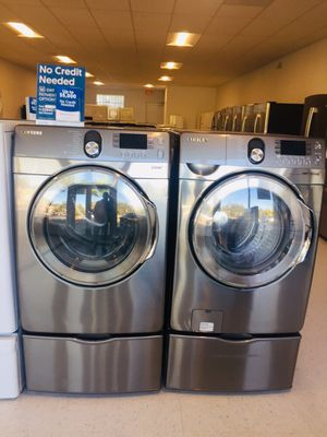 🔥🔥Samsung washer and electric dryer set in excellent condition 90 days warranty 🔥🔥 for Sale in Mount Rainier, MD