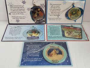 Walt Disney Cast Member Exclusive 2010 - 2014 Family Holiday Celebration Ornaments NEW for Sale in Tampa, FL