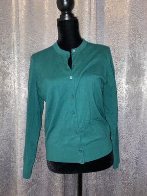 Teal J Crew Cardigan for Sale in Fairfield, CT