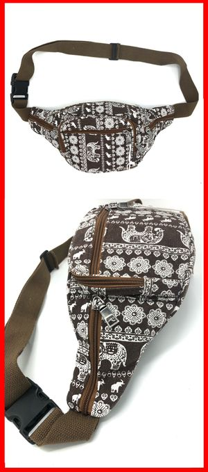 NEW! Canvas waist pack pouch fanny back side bag travel hip bag for Sale in Carson, CA