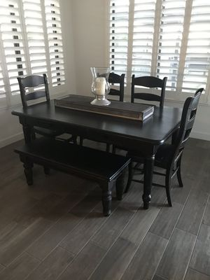 Kitchen table with bench and 4 chairs for Sale in Gilbert, AZ