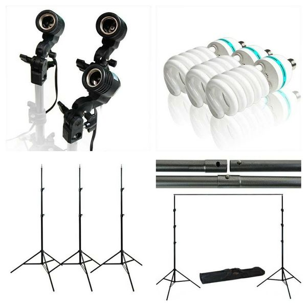 Photography studio photo lighting kit