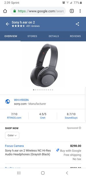 Sony Hear On 2 bluetooth headphones for Sale in Rancho Cordova, CA