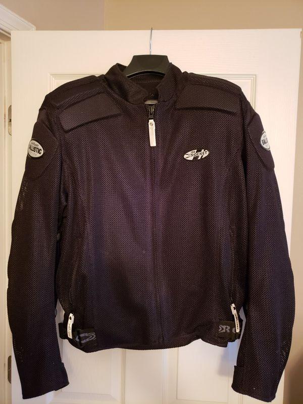 Joe Rocket Motorcycle Jacket in Black.