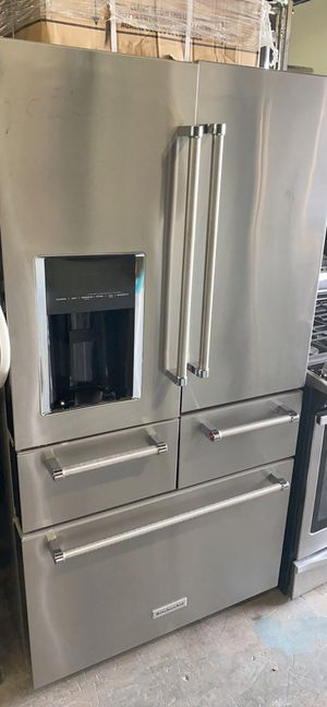 KITCHEN AID 5 DOOR REFRIGERATOR STAINLESS STEEL for Sale in Rialto, CA
