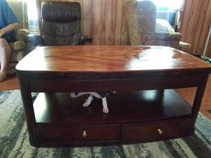 Solid beautful lift coffe table w/4 drawer storage for Sale in Baytown, TX