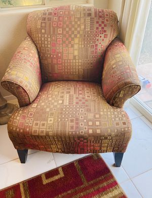 Mathis brothers chair with ottoman and matching pillow for Sale in La Quinta, CA