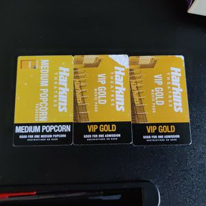 Harkins Theatres Movie Passes and Popcorn Voucher for Sale in Oceanside, CA