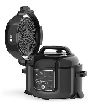 RB-Ninja Foodi Cooker, Steamer & Air w/TenderCrisp Technology Pressure Cooker & Air Fryer All-in-One, 6.5 quart w/dehydrate, Black/Gray for Sale in Los Angeles, CA