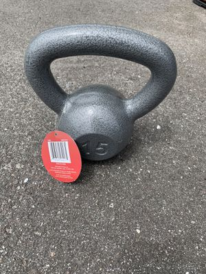 Iron kettlebell weight 15lb for Sale in Lutz, FL