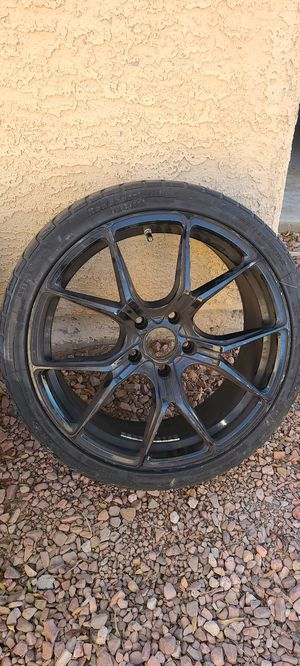 19 inch rims 5/120 BLACK NEED TIRES for Sale in Henderson, NV